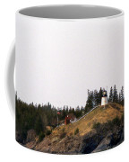 Owls Head Lighthouse Coffee Mug by Skip Willits