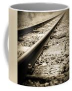 Railway Tracks Coffee Mug by Les Cunliffe
