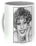 Whitney Houston In 1992 Coffee Mug by J McCombie