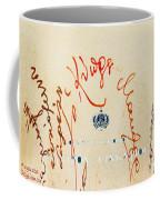 Archbishop Makarios  Autograph Coffee Mug by Augusta Stylianou