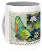 3 Cent Butterfly Stamp Coffee Mug by Amy Kirkpatrick