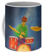 Jazz Drummer Coffee Mug by Pamela Allegretto