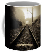 Railway Tracks Coffee Mug by Les Cunliffe