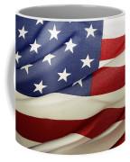 American Flag Coffee Mug by Les Cunliffe