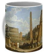 A Capriccio View Of Roman Ruins, 1737 Coffee Mug by Giovanni Paolo Pannini or Panini