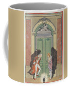 A Couple In Candlelight Coffee Mug by Georges Barbier