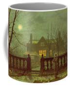 A Lady In A Garden By Moonlight Coffee Mug by John Atkinson Grimshaw