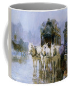 A Rainy Day In Paris Coffee Mug by Ulpiano Checa y Sanz