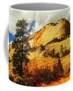 A Tree And Orange Hill Coffee Mug by Jeff Swan
