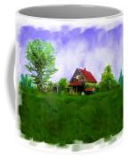 Abandond Farm House Digital Paint Coffee Mug by Debbie Portwood