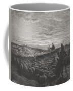 Abraham Journeying Into The Land Of Canaan Coffee Mug by Gustave Dore