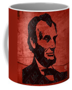 Abraham Lincoln License Plate Art Coffee Mug by Design Turnpike