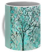 Abstract Floral Birds Landscape Painting Bird Haven II By Megan Duncanson Coffee Mug by Megan Duncanson