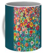Abstract Garden Of Happiness Coffee Mug by Ana Maria Edulescu
