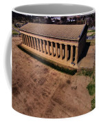 Aerial Photography Of The Parthenon Coffee Mug by Dan Sproul
