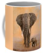 African Elephants Coffee Mug by David Stribbling