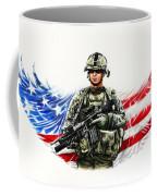Americas Guardian Angel Coffee Mug by Andrew Read