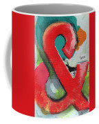 Ampersand Love Coffee Mug by Linda Woods