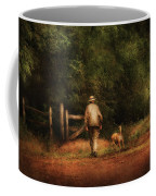 Animal - Dog - A Man And His Best Friend Coffee Mug by Mike Savad
