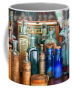 Apothecary - Remedies For The Fits Coffee Mug by Mike Savad