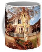 Architecture - Woodstock Vt - Where I Live Coffee Mug by Mike Savad