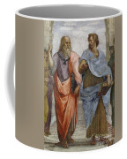 Aristotle And Plato Detail Of School Of Athens Coffee Mug by Raffaello Sanzio of Urbino