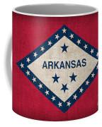 Arkansas State Flag Coffee Mug by Pixel Chimp