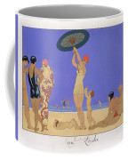 At The Lido Coffee Mug by Georges Barbier