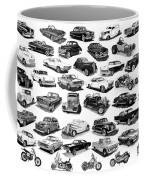 Automotive Pen And Ink Poster Coffee Mug by Jack Pumphrey