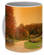 Autumn In The Park - Holmdel Park Coffee Mug by Angie Tirado