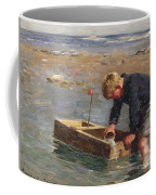 Bailing Out The Boat Coffee Mug by William Marshall Brown