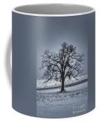 Barren Winter Scene With Tree Coffee Mug by Dan Friend