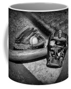 Baseball Play Ball In Black And White Coffee Mug by Paul Ward