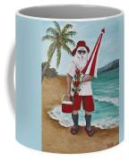 Beachen Santa Coffee Mug by Darice Machel McGuire