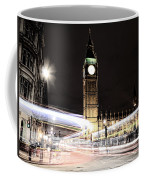 Big Ben With Light Trails Coffee Mug by Jasna Buncic