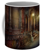 Bike - Ny - Greenwich Village - In The Village  Coffee Mug by Mike Savad