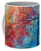 Birds And Blossoms By Madart Coffee Mug by Megan Duncanson