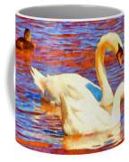 Birds On The Lake Coffee Mug by Jeff Kolker