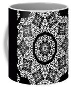 Black And White Medallion 10 Coffee Mug by Angelina Vick