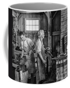 Blacksmith And Apprentice 2 Bw Coffee Mug by Steve Harrington