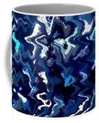 Blue And Turquoise Abstract Coffee Mug by Carol Groenen