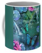 Blue Butterfly Dream Coffee Mug by Alixandra Mullins