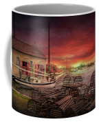 Boat - End Of The Season  Coffee Mug by Mike Savad