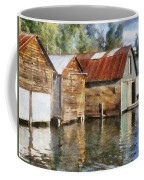 Boathouses On The Torch River Ll Coffee Mug by Michelle Calkins