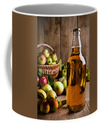 Bottled Cider With Apples Coffee Mug by Amanda Elwell