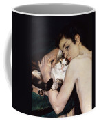 Boy With A Cat Coffee Mug by Pierre-Auguste Renoir