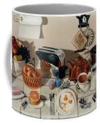 Breakfast With The Beatles - Skewed Perspective Series Coffee Mug by Larry Preston
