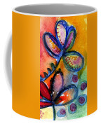 Bright Abstract Flowers Coffee Mug by Linda Woods