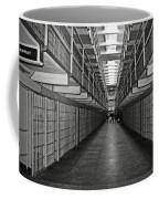 Broadway Walkway In Alcatraz Prison Coffee Mug by RicardMN Photography