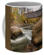 Bulls Bridge Autumn Square Coffee Mug by Bill Wakeley